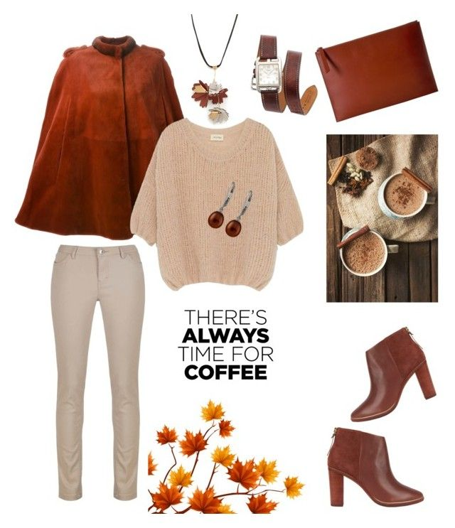 """Time for coffee"" by alexiss-yvore on Polyvore featuring Ted Baker, Musto, Hermès, Marni, Liska, American Vintage, Splendid Pearls, ECCO and CoffeeDate"