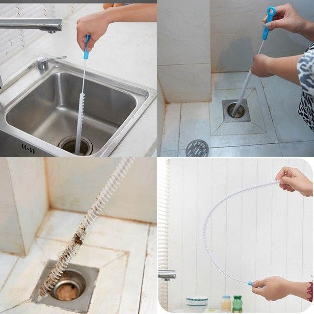 Sink Cleaning Brush Flexible Overflow Drain House Kitchen Gadget Tool Kit