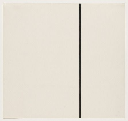 Ellsworth Kelly. Vertical Line from the series Line Form Color. 1951