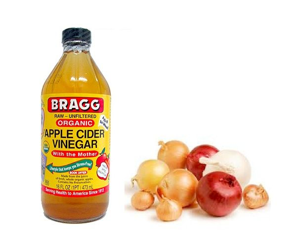 Age-Spot-Remedy >> 1 part of onion (chopped) 2 parts of ACV