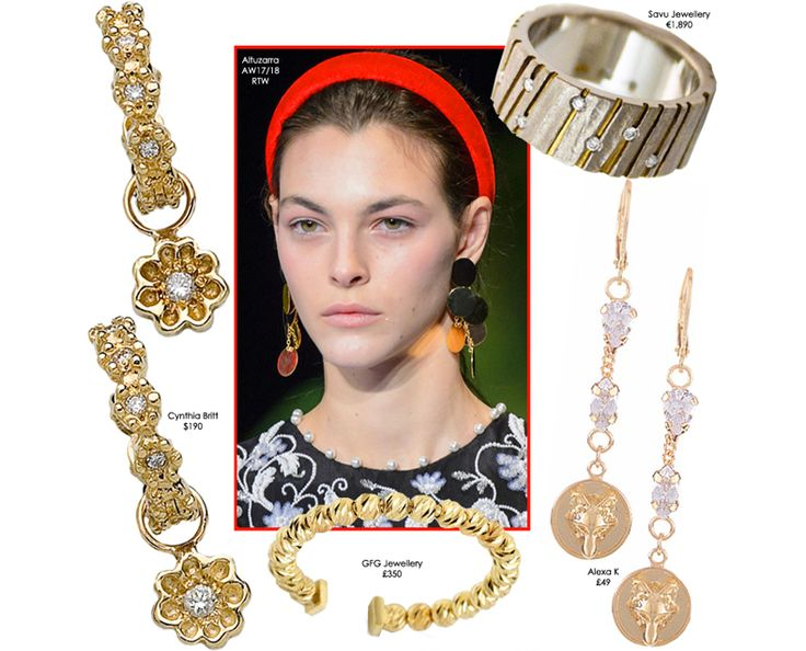 STILORAMA.COM Add daytime glamour to your wardrobe with these chic jewellery pieces inspired by Altuzarra's AW17/18 catwalk look