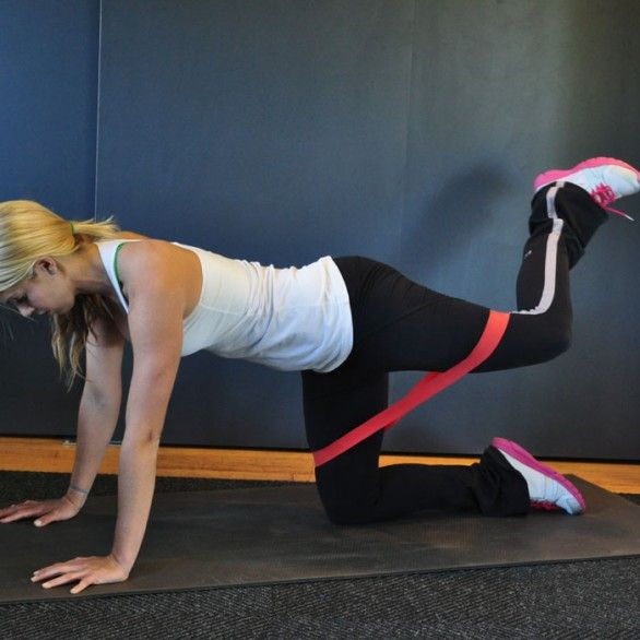 Resistance Bands Thigh Workout: Loop A Resistance Band Around Legs Just Above Knees. Come