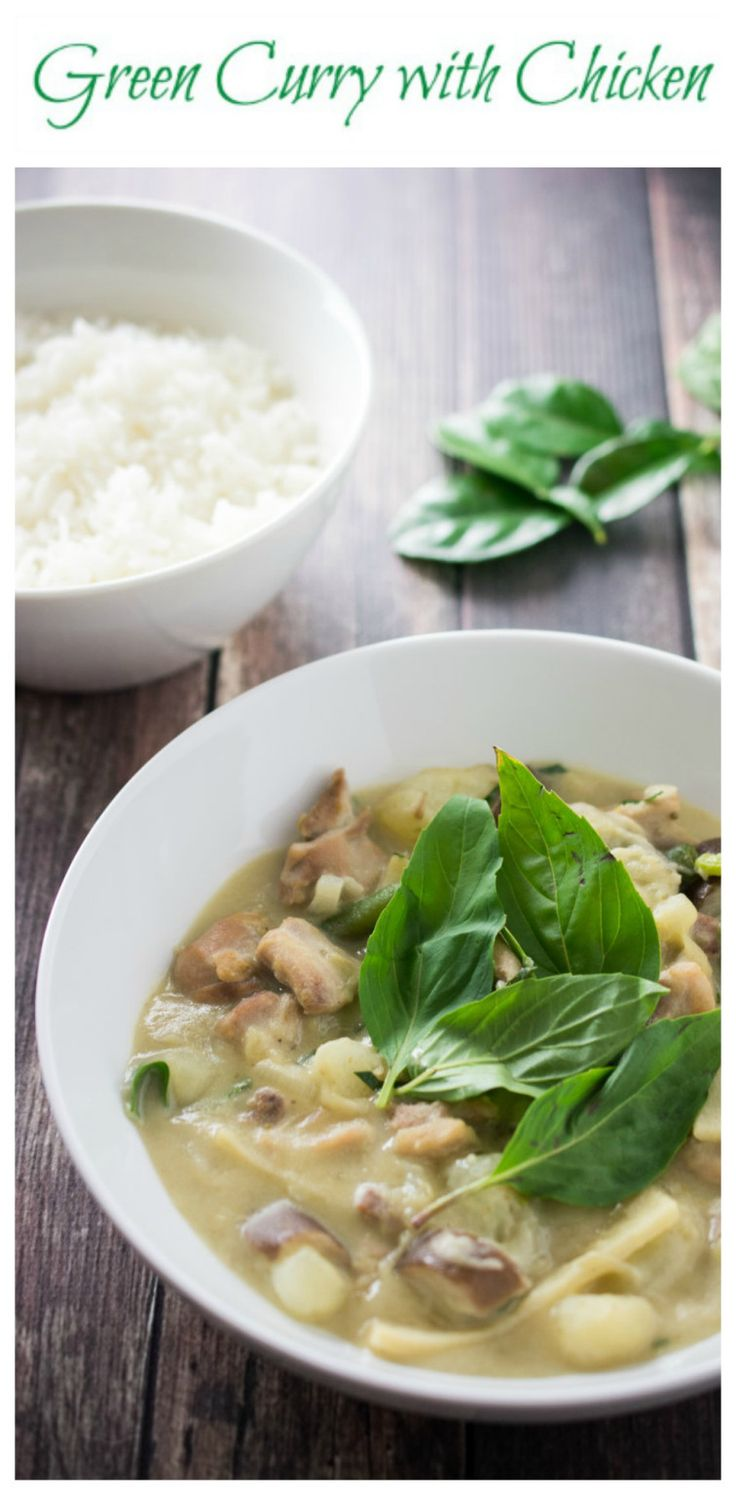 A step-by-step guide on making Green Curry with Chicken and vegetables. Use up any leftover vegetables in your fridge. Crazy delicious and so easy to make.