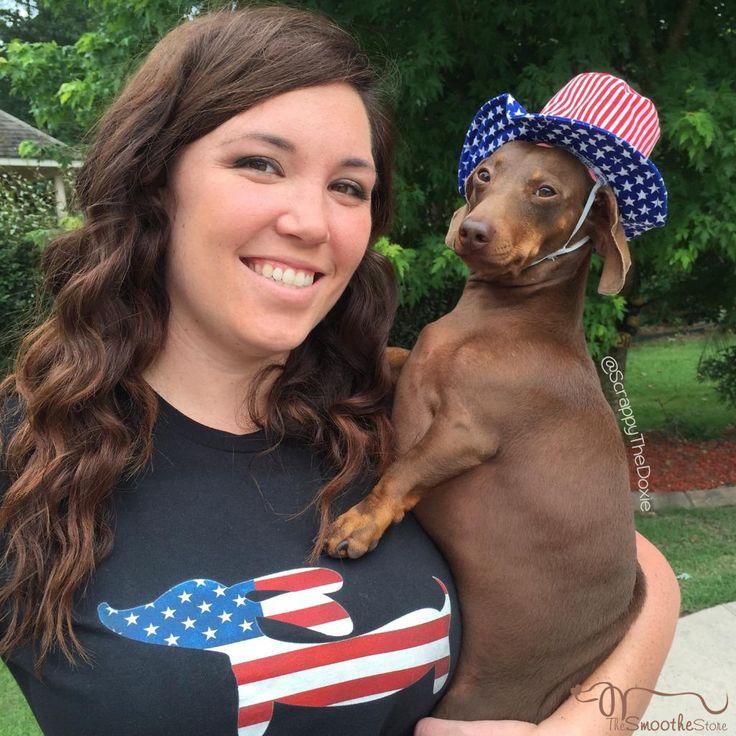 Dachshund shirt - American Wiener Dog shirt with ScrappyTheDoxie