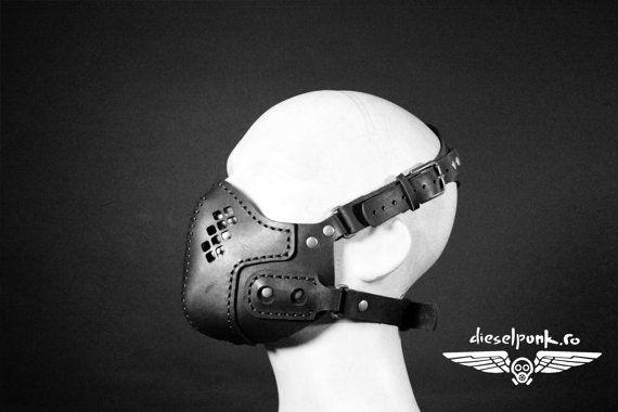 Apocalipsis de Halloween Máscara de STEAMPUNK cuero respirador engranaje LARP cosplay cybergoth cyberpunk