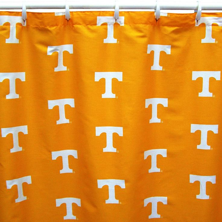 College Covers Tennessee Volunteers Printed Shower Curtain Cover, Multicolor