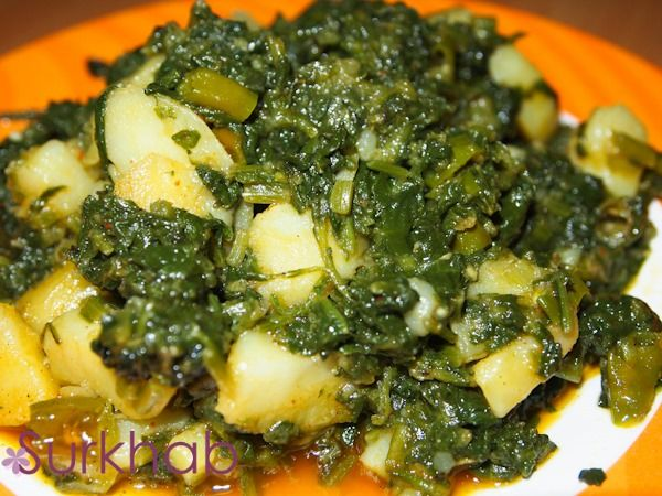aloo palak dry recipe for chicken