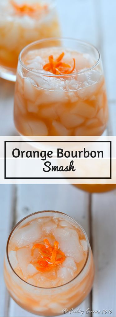 Bourbon and bitters and some orange come together in this warming yet icy cocktail – Orange Bourbon Smash. Celebrate New Year with this smashing cocktail for your party!