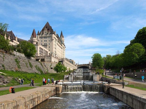 Fairmont Chateau Laurier, Ottawa, Ontario — by Amanda Williams. Just down some steps from the Hogwarts-looking Fairmont Chateau Laurier hotel in Ottawa lie the locks on the Rideau...