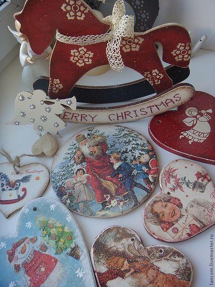 """Игрушки животные, ручной работы. Ярмарка Мастеров - ручная работа Лошадка """"MERRY CHRISTMAS"""". Handmade."""