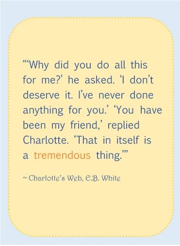 charlotte s web quotes Our engaging chapter can help your student understand some of the important quotes from the children's book ''charlotte's web'' once your student.