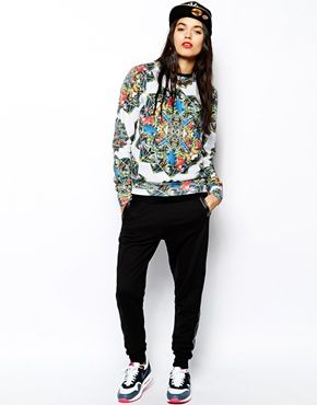 Image 4 ofHype Sweatshirt With All Over Parrot Prism Print $75