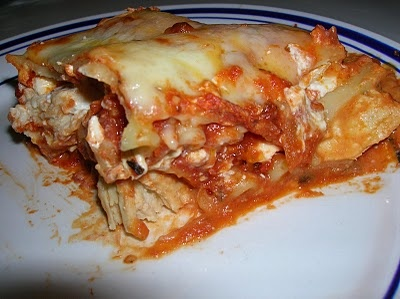 Creamy Chicken Lasagna. Quickest and easiest lasagna you'll ever make. I use low fat cream cheese.