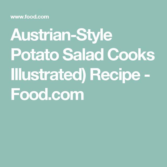 Austrian-Style Potato Salad Cooks Illustrated) Recipe - Food.com
