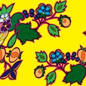 ojibwe beadwork patterns   Ojbwa old style floral pattern in yellow by racheldennis-butzin, click ...