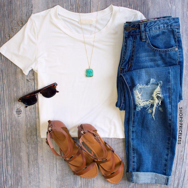 sunglasses color Dakota Crop Top   White