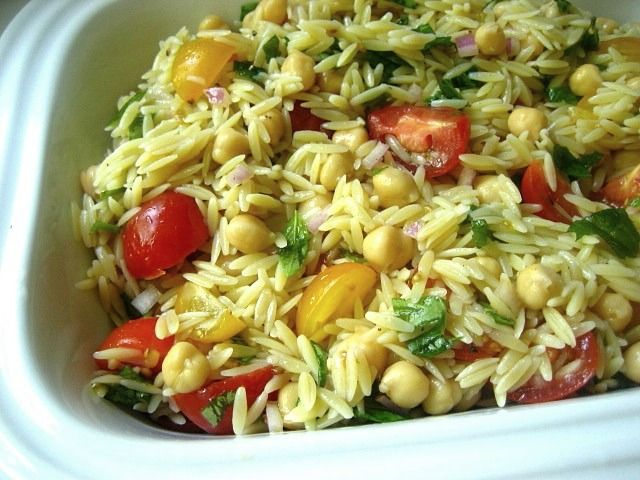 Giada's Orzo Salad. I made this and it was really easy!