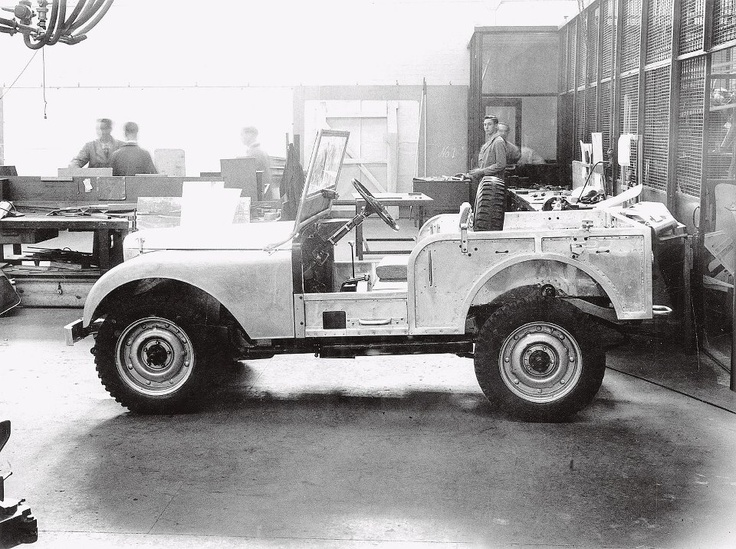 The original prototype of the Land Rover Center Steer no longer exists, but you can see it here in this rare photo from 1947. #LandRover