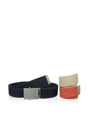38% OFF Timberland Men's 3-in-1 Web Belt (Red/Navy/Khaki)