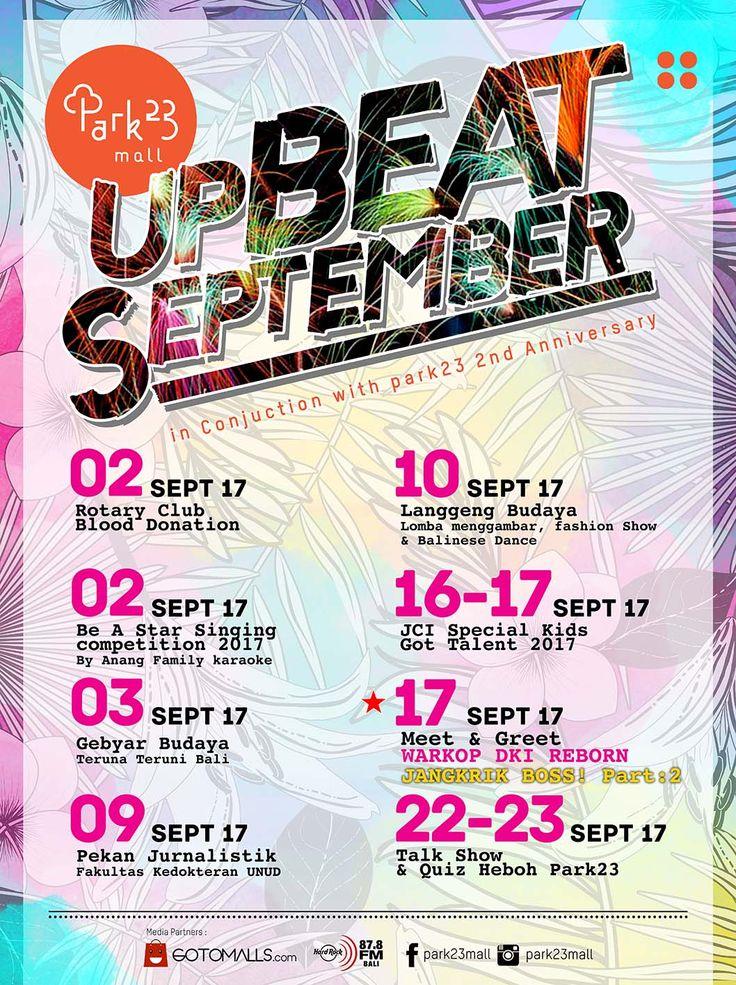 UpBeat September_Event Calendar sept 2017_Park23mall