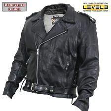 Xelement XS-5890 Θωρακισμένα μαύρο δέρμα Classic Biker Jacket
