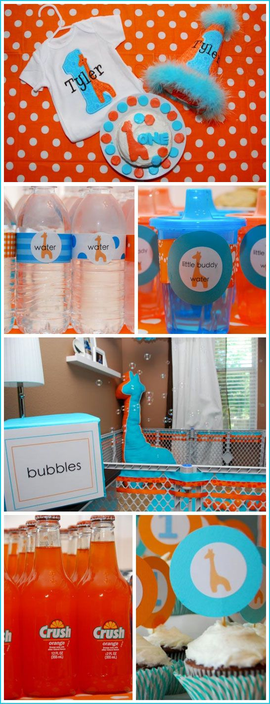 Not the theme...but like some of the ideas for Madi's first birthdayKids Parties, Water Bottle, First Birthday Parties, Sippy Cups, 1St Birthday, Giraffes Parties, First Birthdays, Parties Ideas, Birthday Ideas