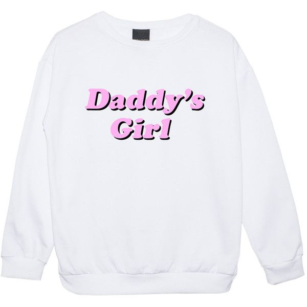 Daddy Girl Sweater Jumper Funny Fun Tumblr Hipster Swag Grunge Kale... (81 BRL) ❤ liked on Polyvore featuring tops, sweaters, shirts, sweatshirt, black, women's clothing, shirt sweater, goth shirts, retro sweaters and pastel goth shirt
