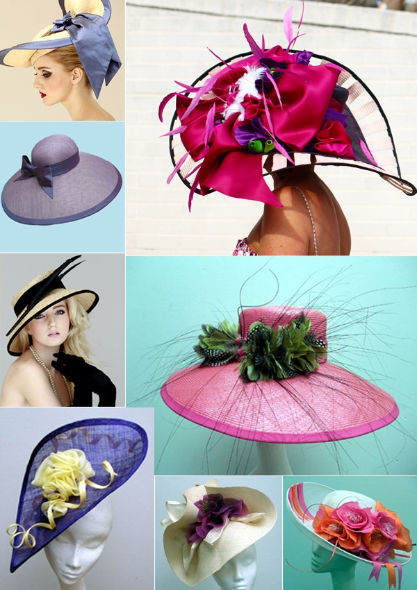 Kentucky Derby Hats - Cami and I are going to KD one day soon with big hats like these