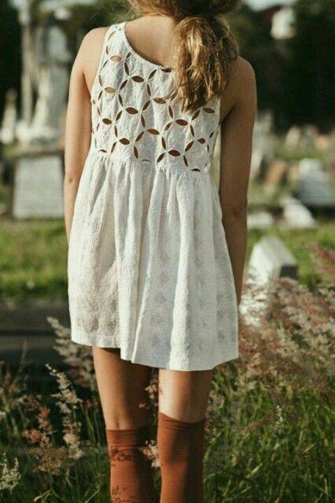 little white dresses + boots