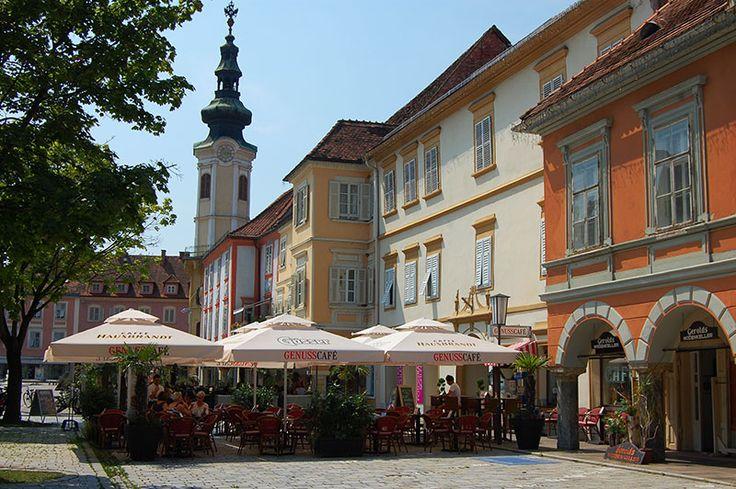 Gamlebyen i Bad Radkersburg er et perfekt sted for forfriskninger. Foto: Ana Lucia Marcos ©