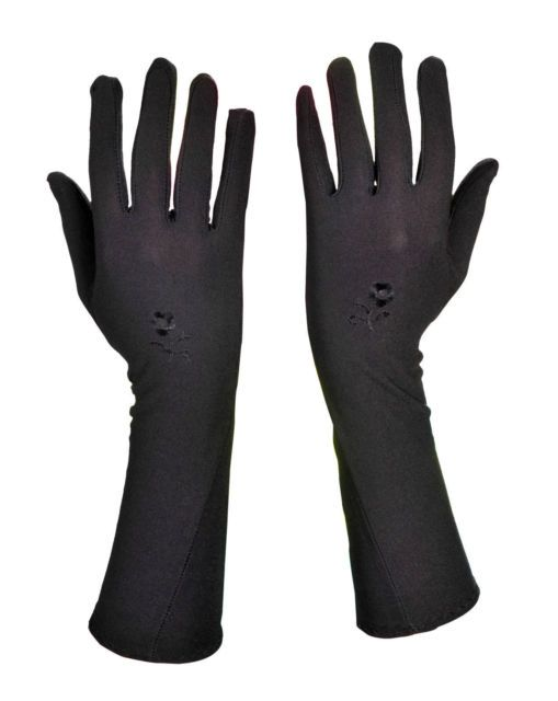 Check out Long Black Full Finger Gloves Hand Cover Pair Islamic Muslim Evening Opera