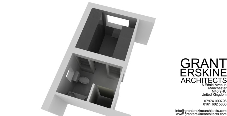 Little quick doodle for our client to show him the possibilities that could be achieved by just moving a stud wall. Proposed ensuite and Walk in wardrobe