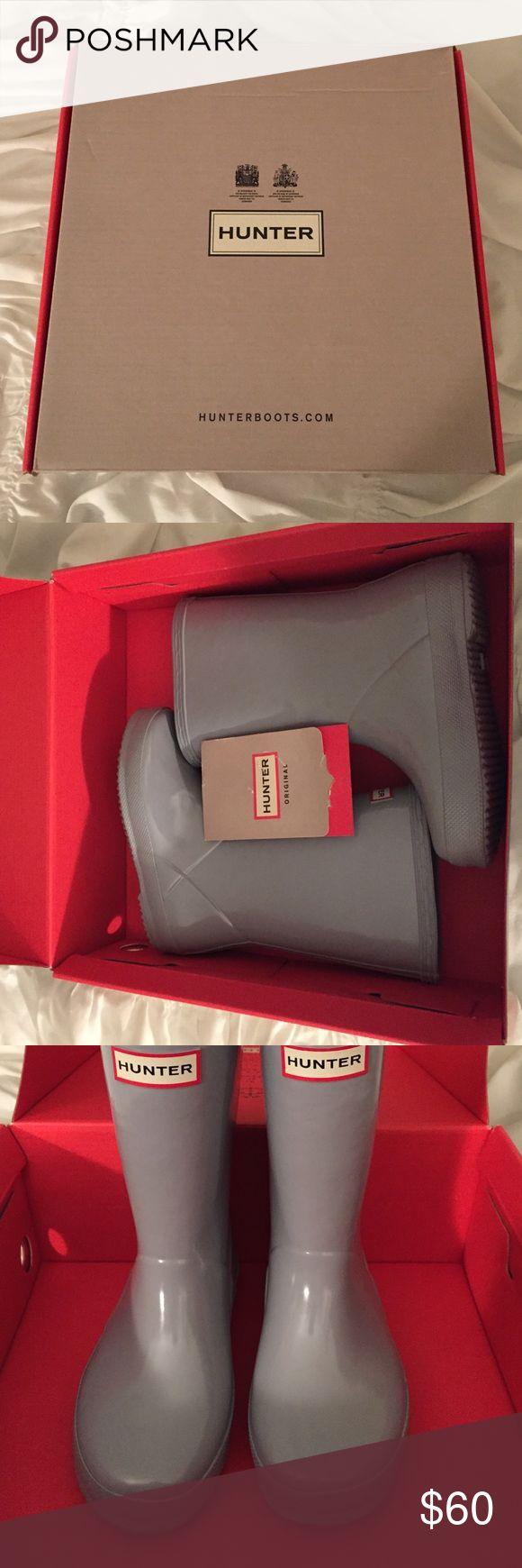Kids HUNTER Boots US 11B Like New Girls Hunter boots. color Porcelain Blue Hunter Boots Shoes Rain & Snow Boots