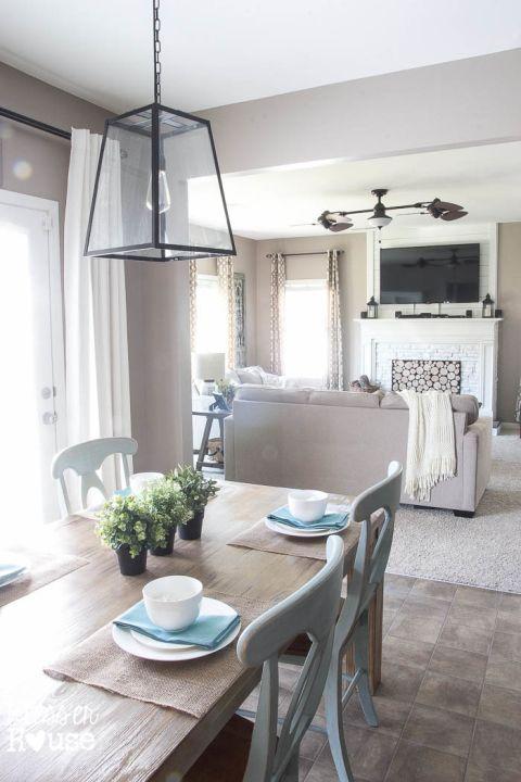 1 Rustic Industrial Breakfast Room 2 Ways - Bless'er House