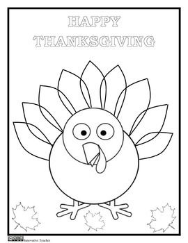 thanksgiving coloring page freebie by innovative teacher