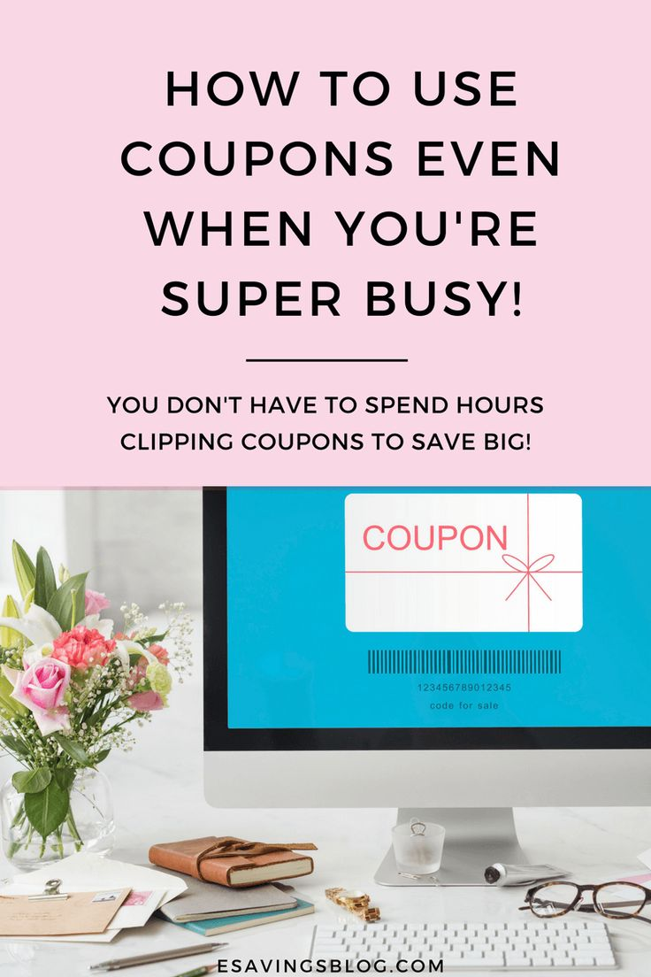 How to start couponing even if you're busy! Use these money saving tips to start using coupons even when you have no time! #coupons #couponing #moneytips #couponcommunity
