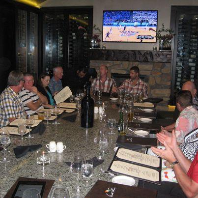 2013 Californian Desert Tour - Welcpme Dinner @ Wine Room Arnold Palmers #wineroom #golf #teeoff #swing #golfer #golfcourse #golfing #golfclubs #holeinone #game #endurance #golftours #greengolftours #arnoldpalmers