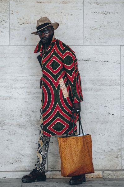 mode hommes : manteau à motif ethnique