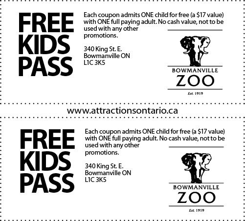 Bowmanville Zoo Coupons