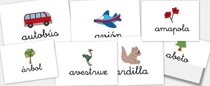 Bits de imágenes para trabajar el abecedario. Letra A