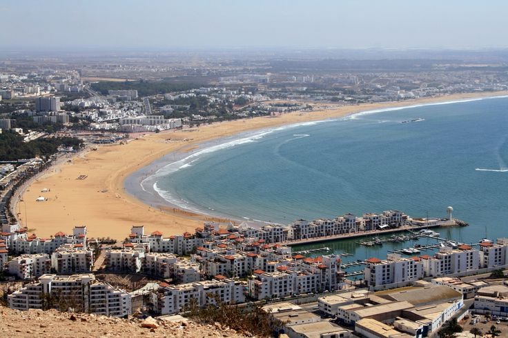 Η παραλία του Agadir στο Μαρόκο
