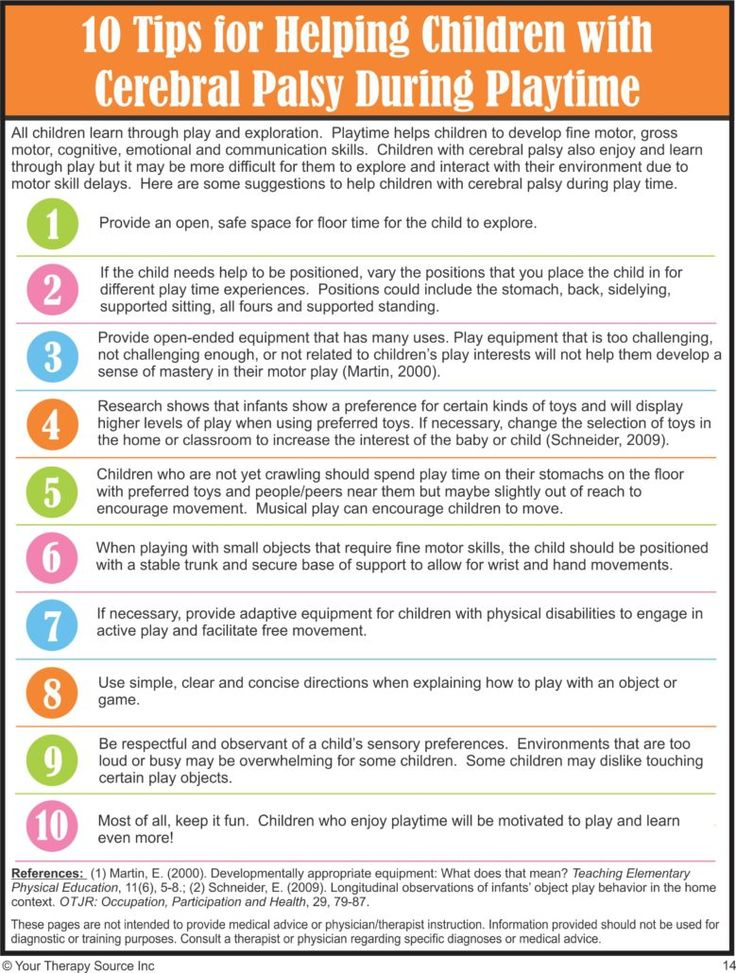 10 Tips to Help Children with CP During Playtime from Your Therapy Source. Pinned by SOS Inc. Resources pinterest.com/sostherapy/