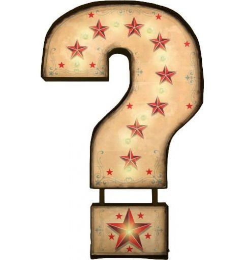 Carnival Light Sign Question Mark, Multi