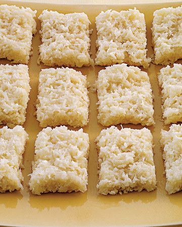 Using condensed and evaporated milk keeps these sweet treats moist and chewy.