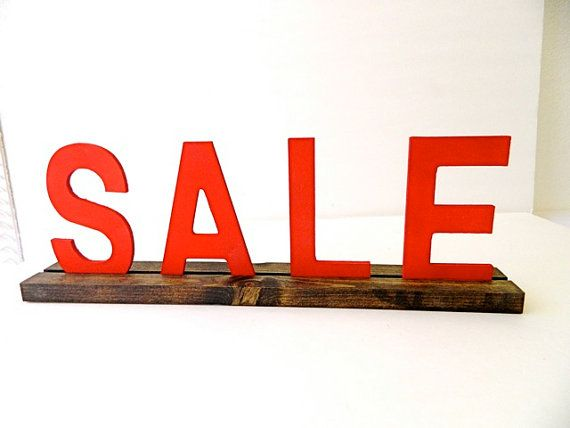 Sale Retail Signage https://www.etsy.com/listing/196395864/retail-sign-holder-with-red-sale-letters?ref=shop_home_feat_4  #etsy