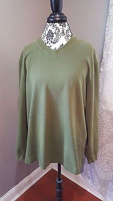 Ashworth Golf Green V-Neck Sweatshirt Pullover Kings & Commoners Stitching Large