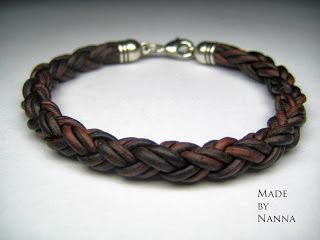 Made by Nanna: 228. Armband i rund fyrfläta