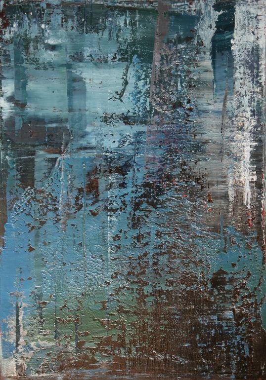 """Saatchi Art Artist: Koen Lybaert; Oil 2013 Painting """"abstract N° 680 - SOLD"""""""