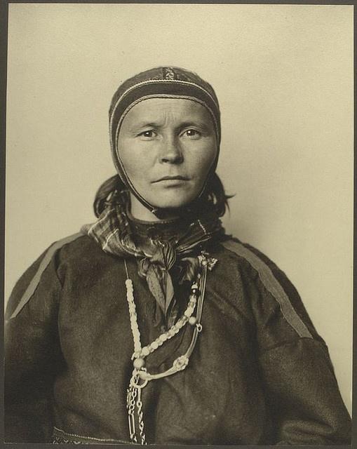 [Laplander] Sami woman from Finland at Ellis Island 1906