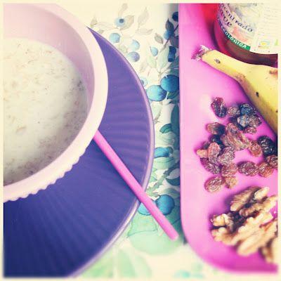 La Cocina de Carolina: Desayuno con avena: copos de avena con leche y top...